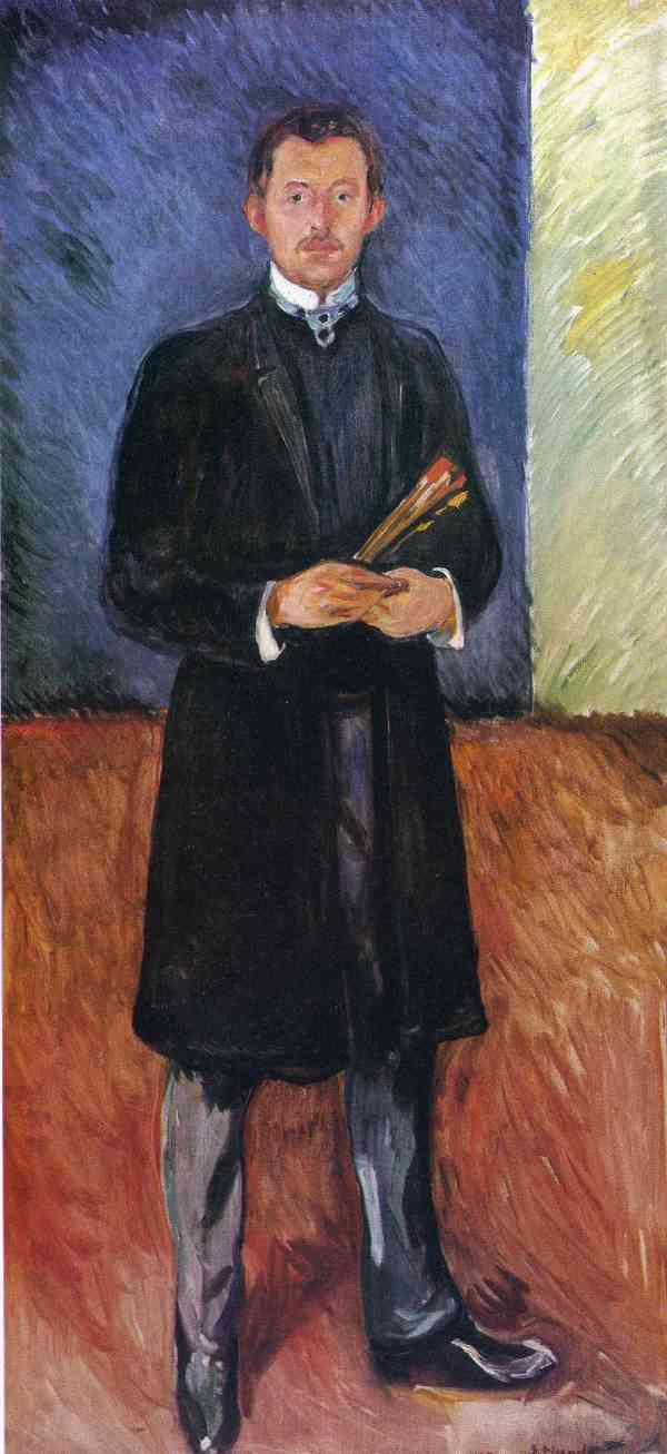 Portrait With Brushes - Edvard Munch Encyclopedia Of Visual Arts
