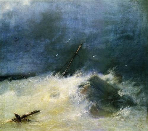 Storm at Sea - Ivan Aivazovsky