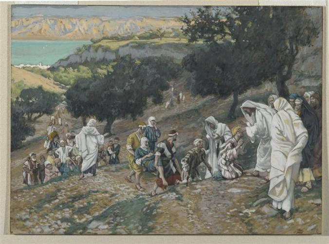 Jesus Heals the Blind and Lame on the Mountain - James Tissot