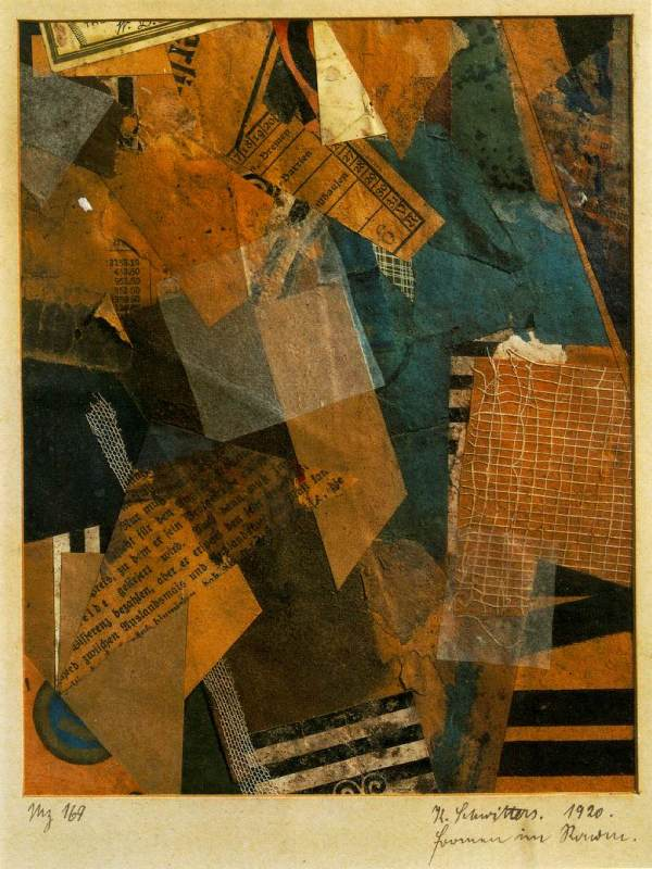 Forms In Space 1920 - Kurt Schwitters