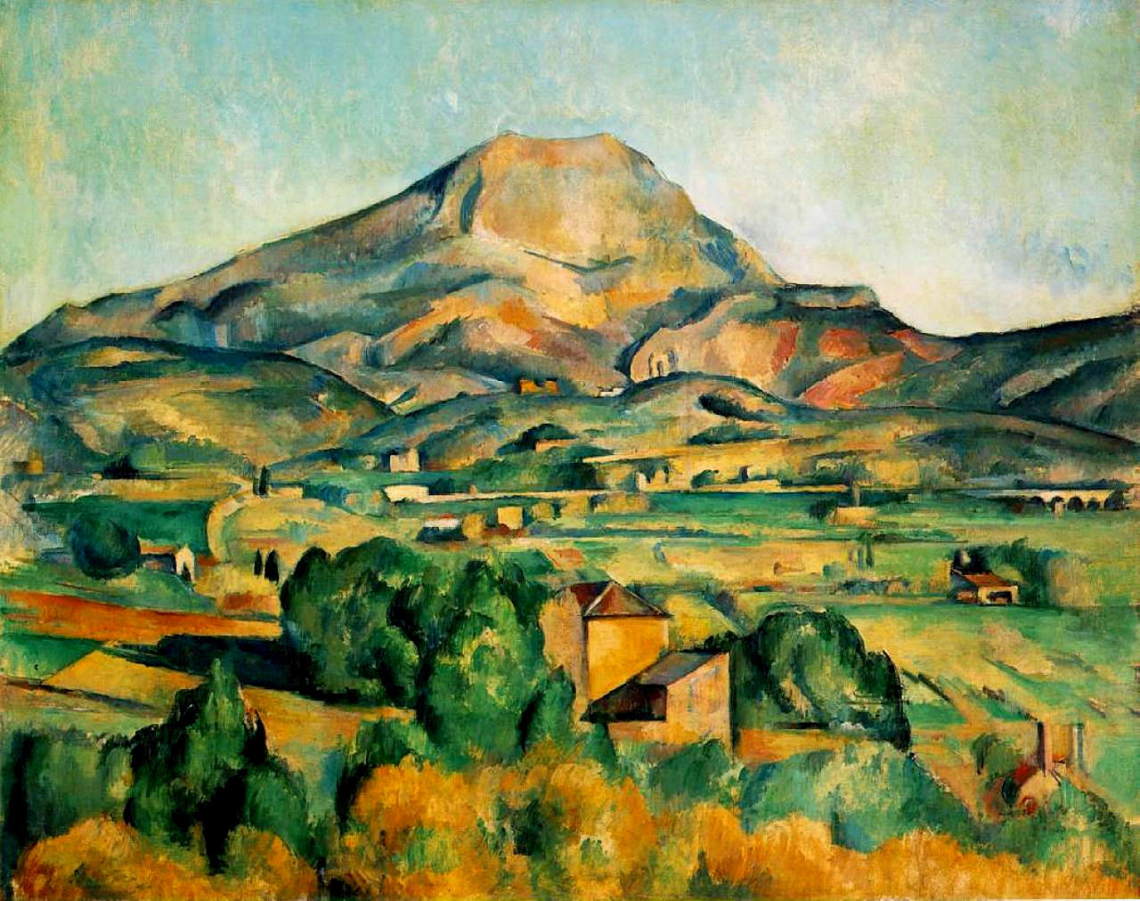 Mont SainteVictoire  Paul Cezanne  WikiArtorg  encyclopedia of visual arts
