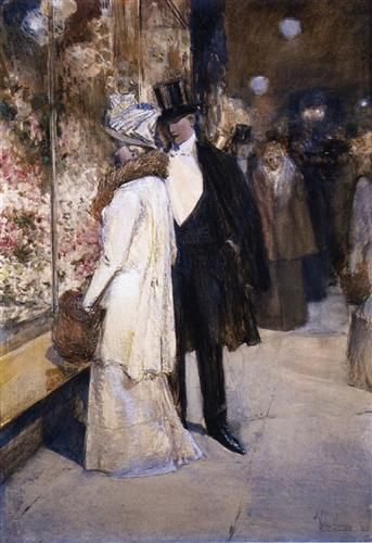 A New Year's Nocturne, New York - Childe Hassam