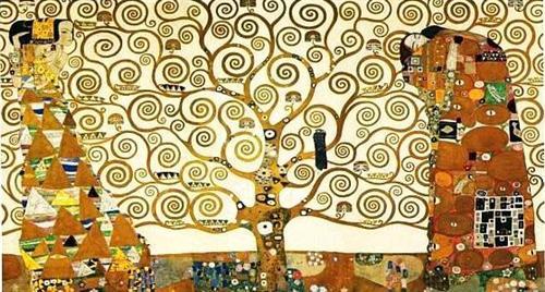 Gustav Klimt, Art Nouveau,symbolic painting, Tree of Life, Tan renga, haiku