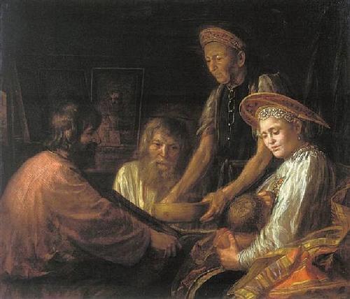 Peasants' meal - Mikhail Shibanov