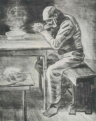 Prayer Before the Meal - Vincent van Gogh