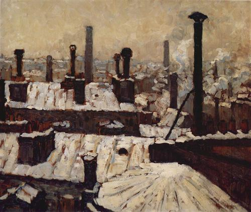 Roof under the Snow, Paris - Gustave Caillebotte