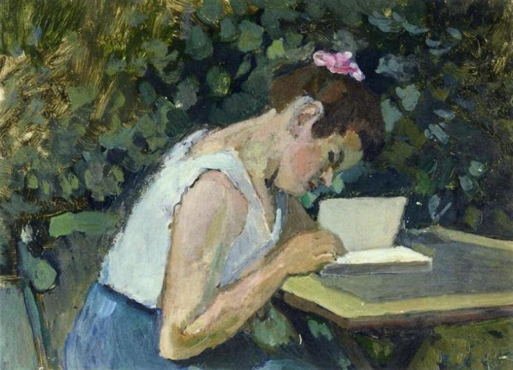 Woman Reading in a Garden, 1902 - 1903 - Henri Matisse - WikiArt.org