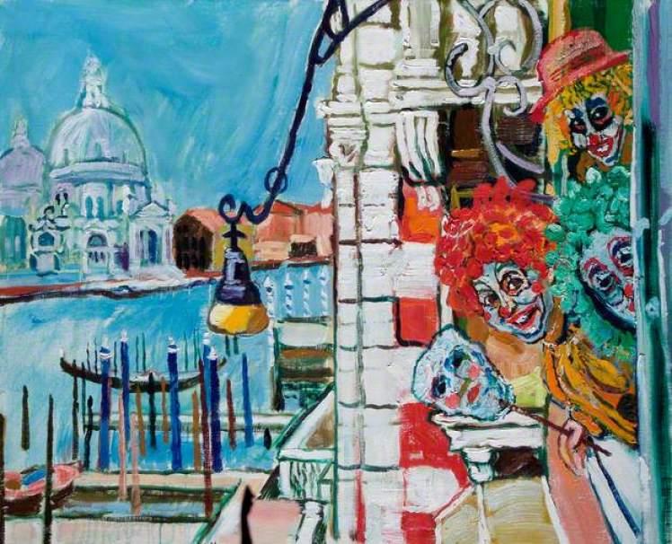 Venice Carnival - John Bratby