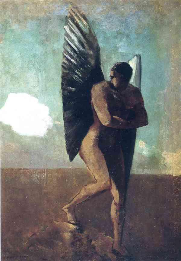 Fallen Angel Cloud .1875 - Odilon Redon