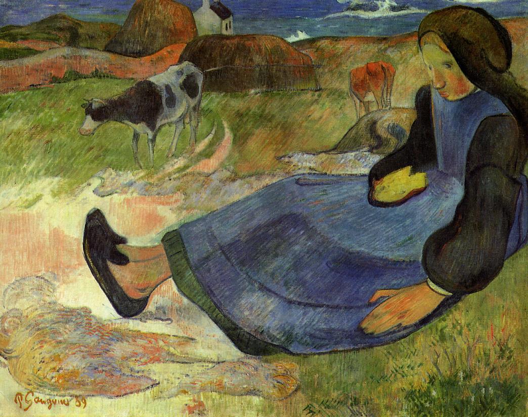 Seated Breton Girl 1889 Paul Gauguin