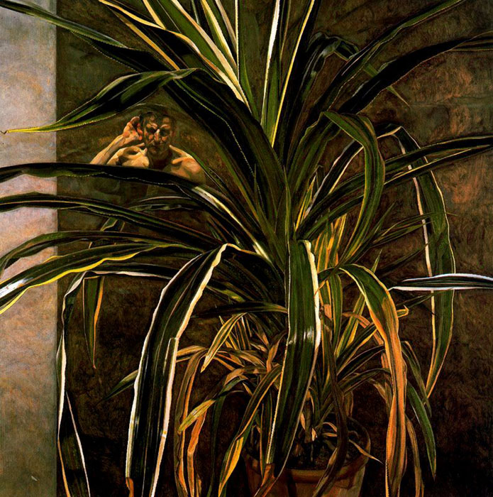 Interior with Plant, Reflection Listening (Self-Portrait), 1968