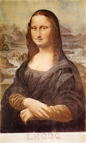L.H.O.O.Q, Mona Lisa with moustache - Marcel Duchamp