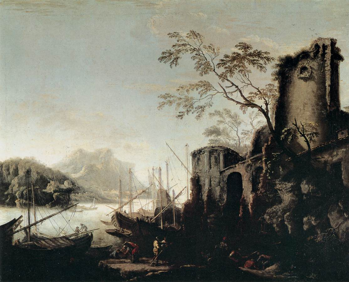 Marine Landscape with Towers 1645  Salvator Rosa  WikiArtorg