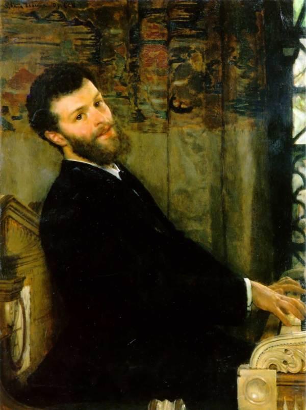 Portrait Of Singer George Henschel 1879 - Sir Lawrence Alma-tadema