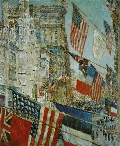 """Allies Day, May 1917"" -- 1917 oil on canvas by Childe Hassam; National Gallery of Art, Washington, D.C."
