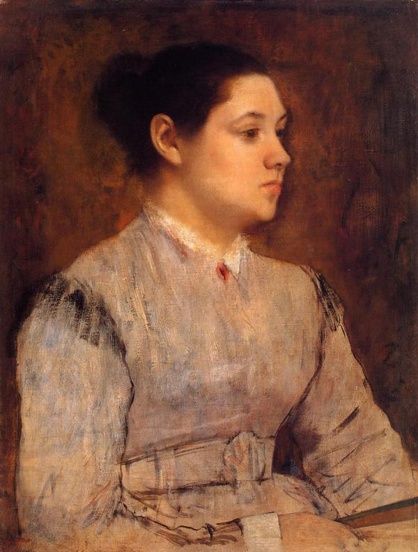 Edgar Degas Portrait of a Young Woman