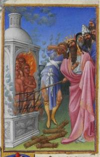 The Three Hebrews Cast into the Fiery Furnace - Limbourg ...