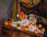 Fruit Bowl, Pitcher and Fruit, 1894 - Paul Cezanne ...