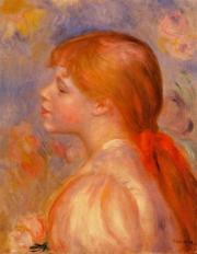 girl with red hair ribbon 1891