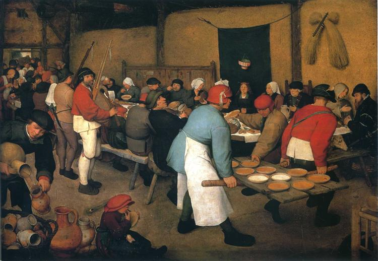 Peasant Wedding 1568  Pieter Bruegel the Elder  WikiArtorg