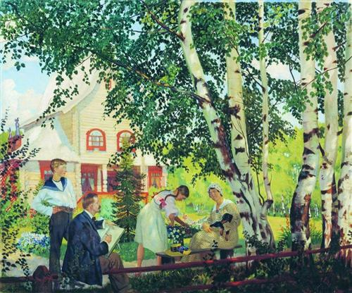 At Home  - Boris Kustodiev