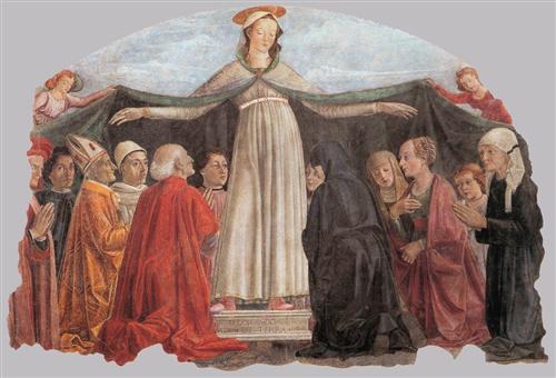Madonna of Mercy - Domenico Ghirlandaio