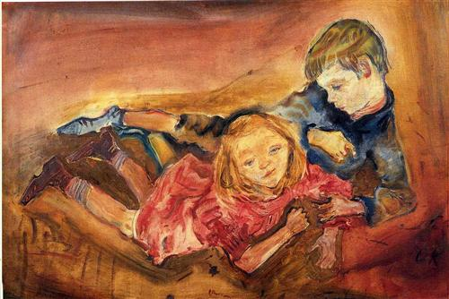 Children playing - Oskar Kokoschka