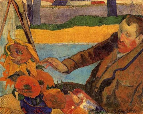 Van Gogh Painting Sunflowers - Paul Gauguin