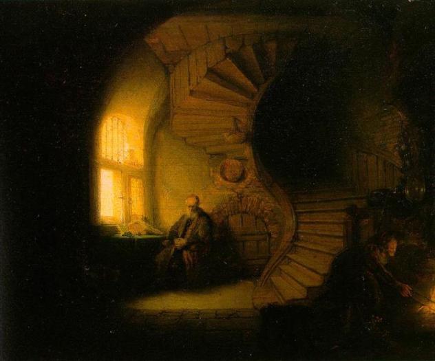 Philosopher in Meditation, 1632 - Rembrandt