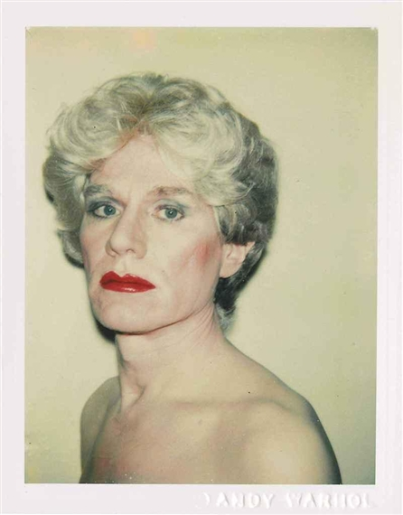 SelfPortrait in Drag 1982  Andy Warhol  WikiArtorg