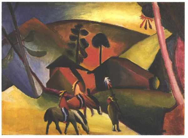 Native Aericans Horses - August Macke Encyclopedia Of Visual Arts