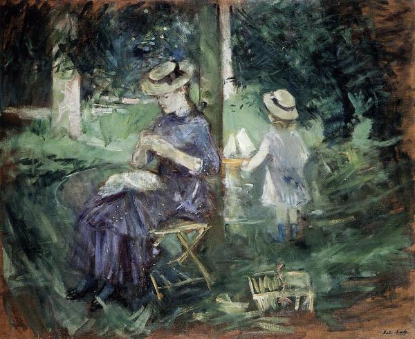 Woman And Child In Garden 1883 - 1884 Berthe Morisot