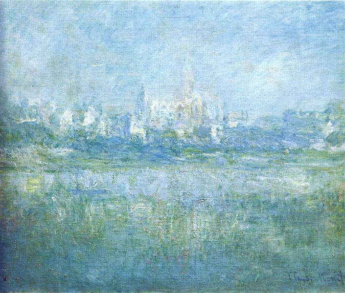 Vetheuil in the Fog, 1879 - Claude Monet - WikiArt.org