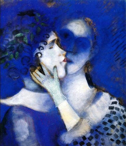 Blue Lovers - Marc Chagall