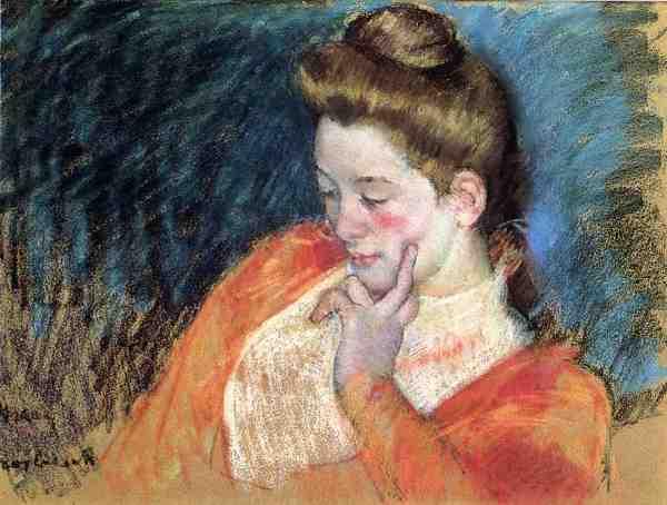 Portrait Of Young Woman .1898 - Mary Cassatt