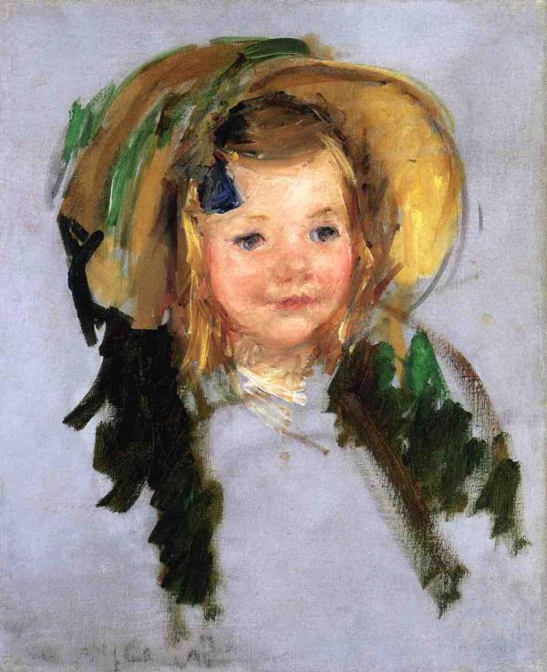 Sara In Bonnet - Mary Cassatt