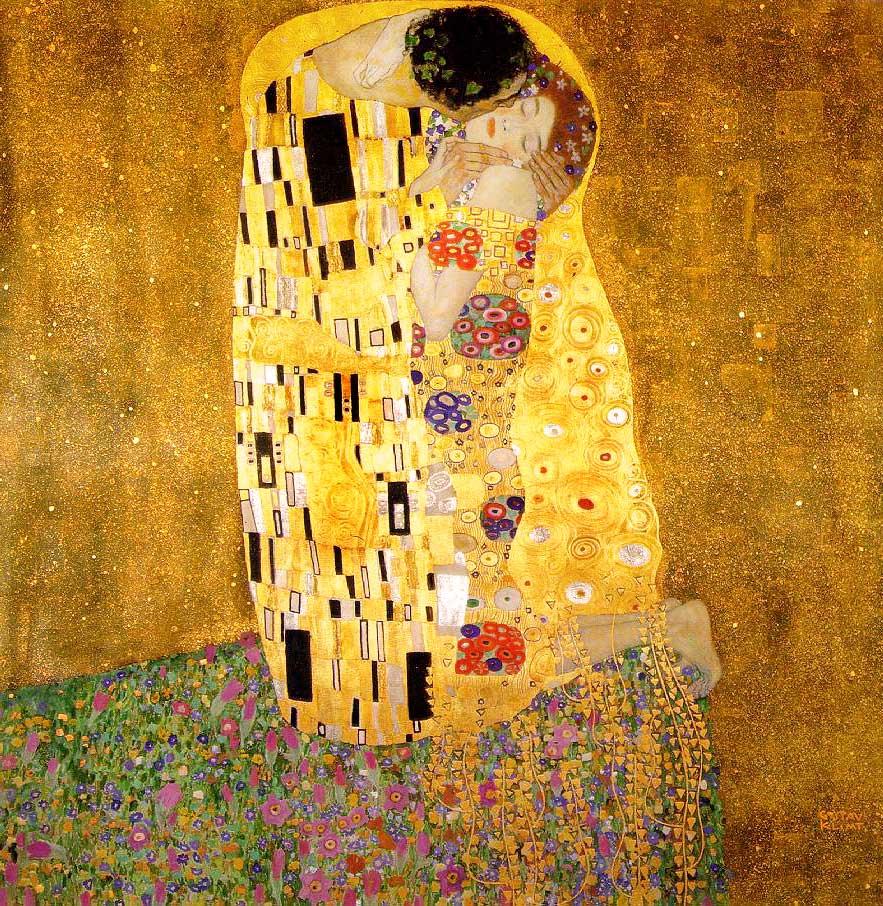 Gustav Klimt's The Kiss