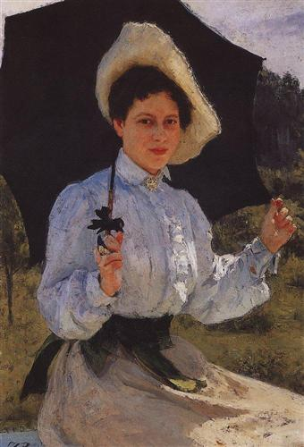 Portrait of Nadezhda Repina, the Artist's Daughter - Ilya Repin