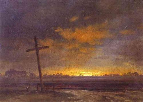 Landscape with a Cross. Lithuania - Maxim Vorobiev