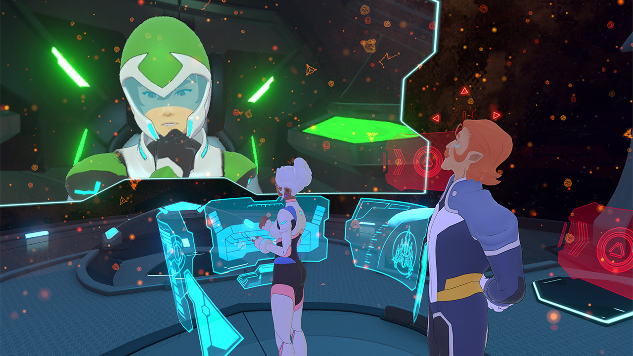 A screenshot from Voltron VR Chronicles