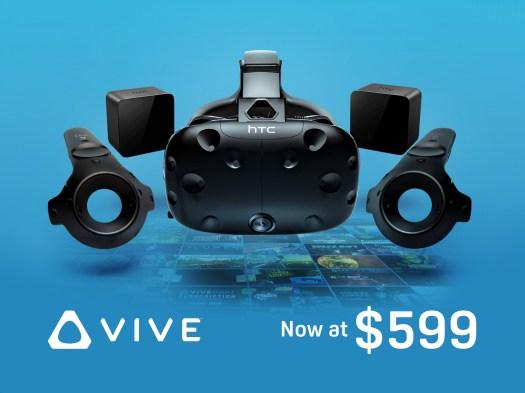 HTC Vive today $599, Gets A Permanent $200 lessen price