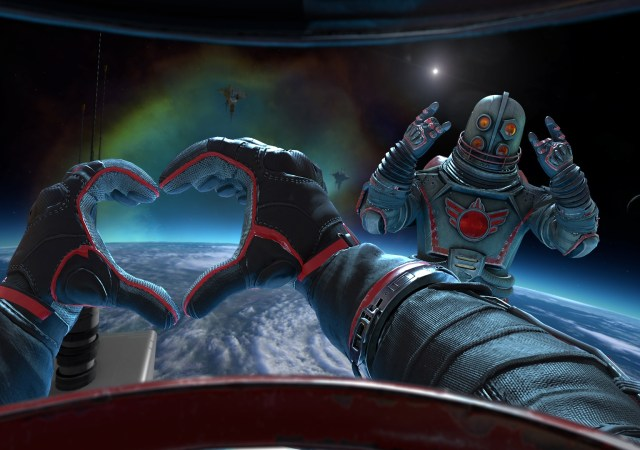 Space Junkies vr shooter zero-gravity