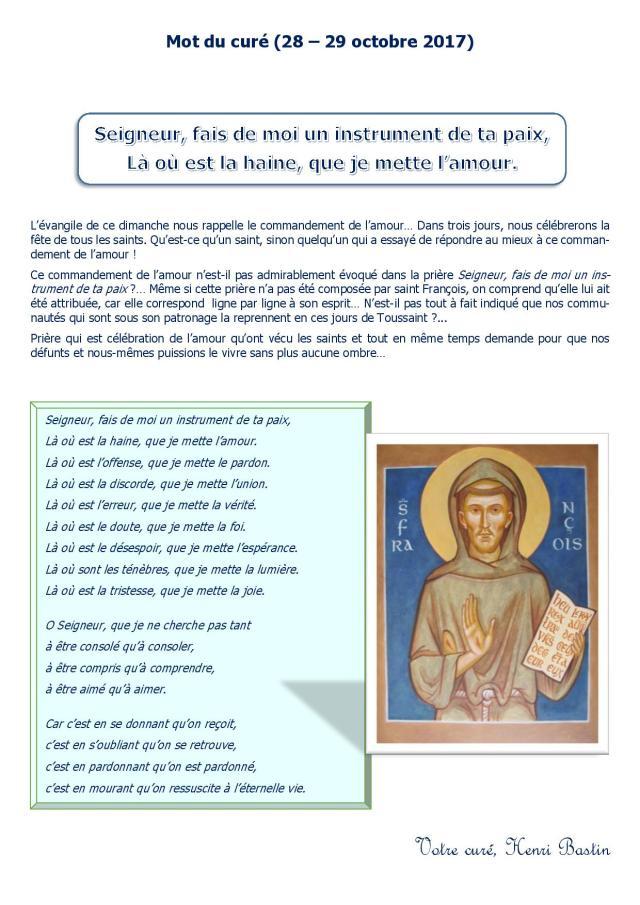 Seigneur Fais De Moi Un Instrument De Ta Paix : seigneur, instrument, Seigneur,, Instrument, Unité, Pastorale, Malmedy