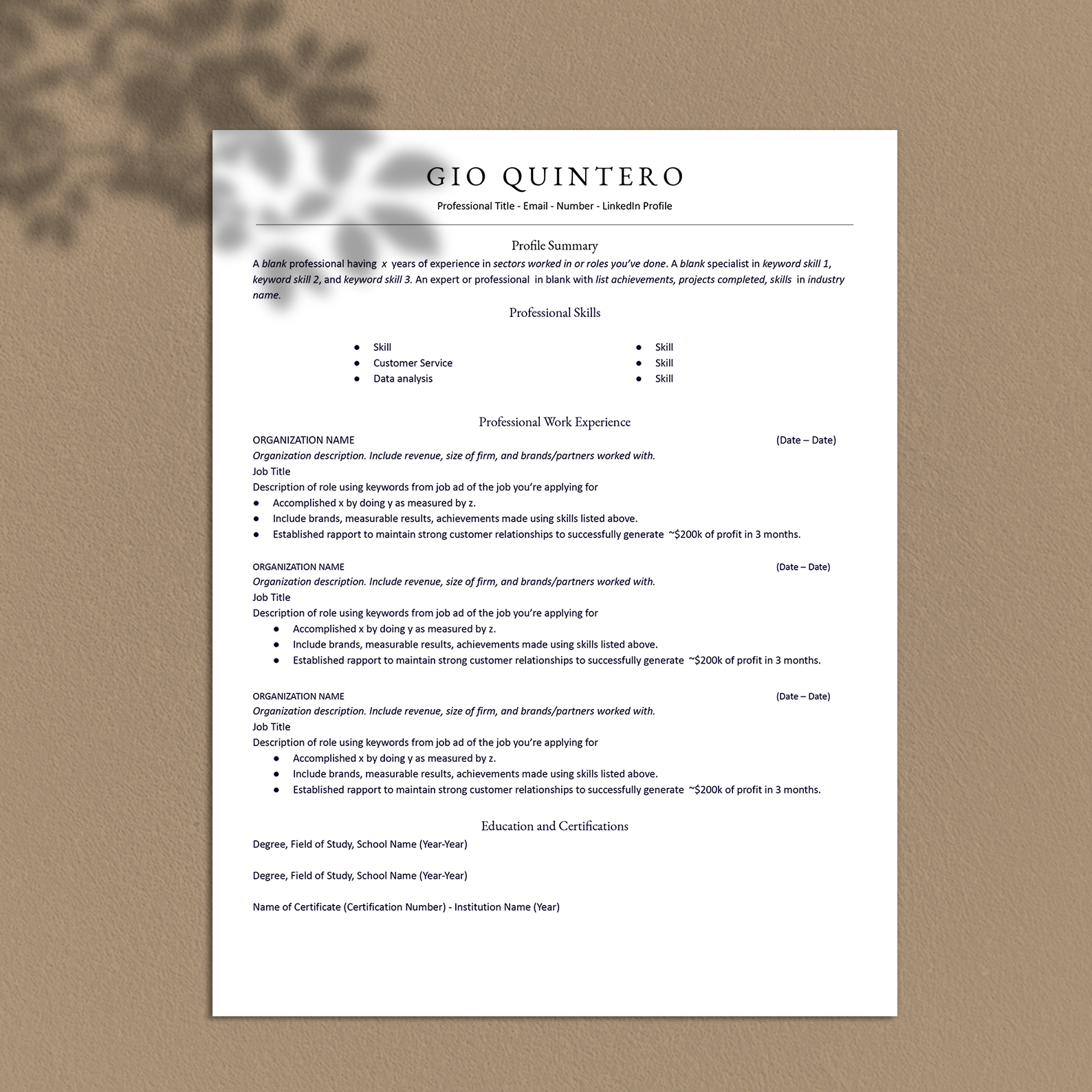 All you need to do is scroll down until you see the section with resume templates: Ats Compliant Resume Google Docs Resume Templates Gio Quintero Upmarket Templates