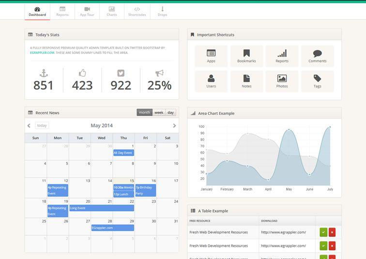 009 TemplateVamp – Bootstrap Admin Theme - 15 belos templates grátis para o seu admin em Bootstrap
