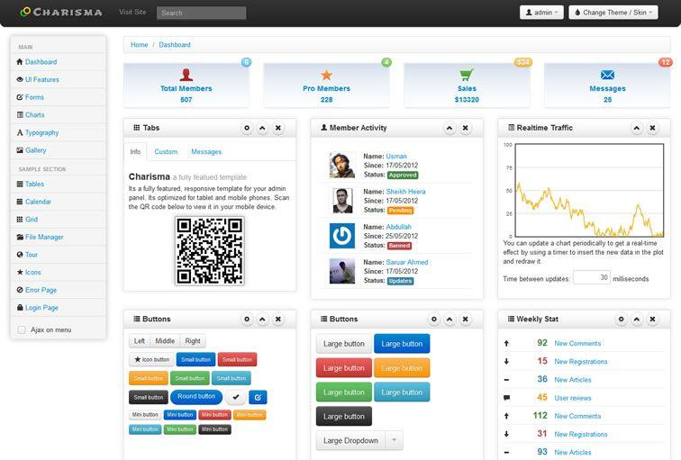 011 Charisma Responsive Admin Template - 15 belos templates grátis para o seu admin em Bootstrap