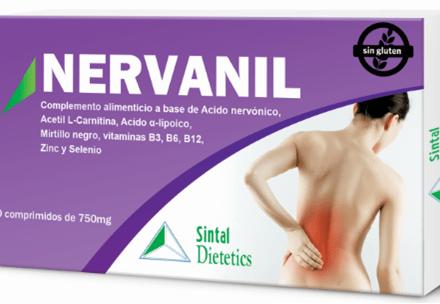 Nervanil,  lumbago, dolor de  espalda, antioxidantes , vitaminas grupo B, vitaminas B2, B6 y B12,