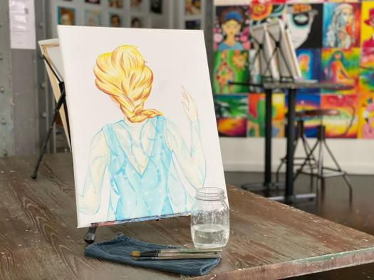 Cork and Canvas: Frozen the Musical art classes 2021 ...