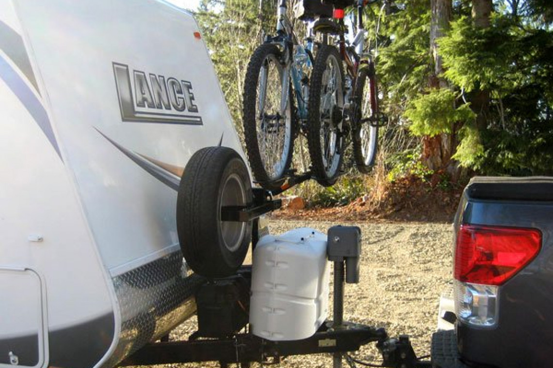 up n front your bike rack and storage