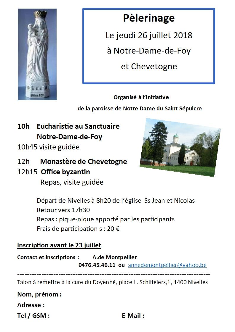 Pèlé invitation Foy Chevetogne 2018